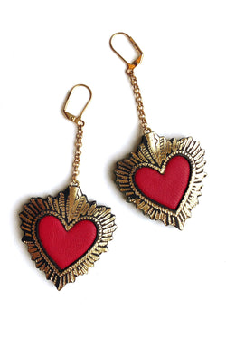Rosita Bonita Small Sacred Heart Earrings