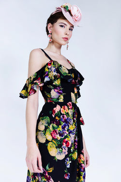 Hollywood Sarong Dress - Martini Floral