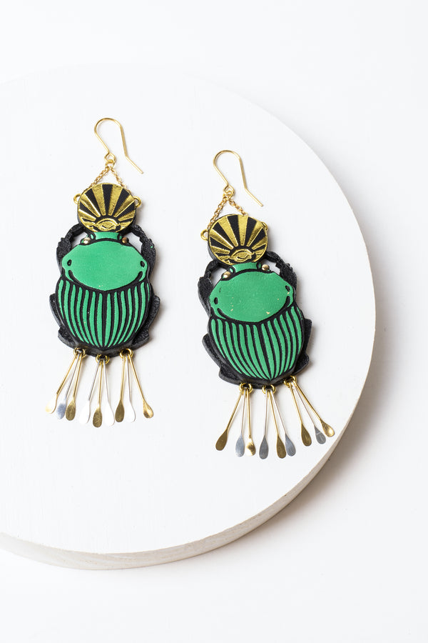 Rosita Bonita Scarab Earrings