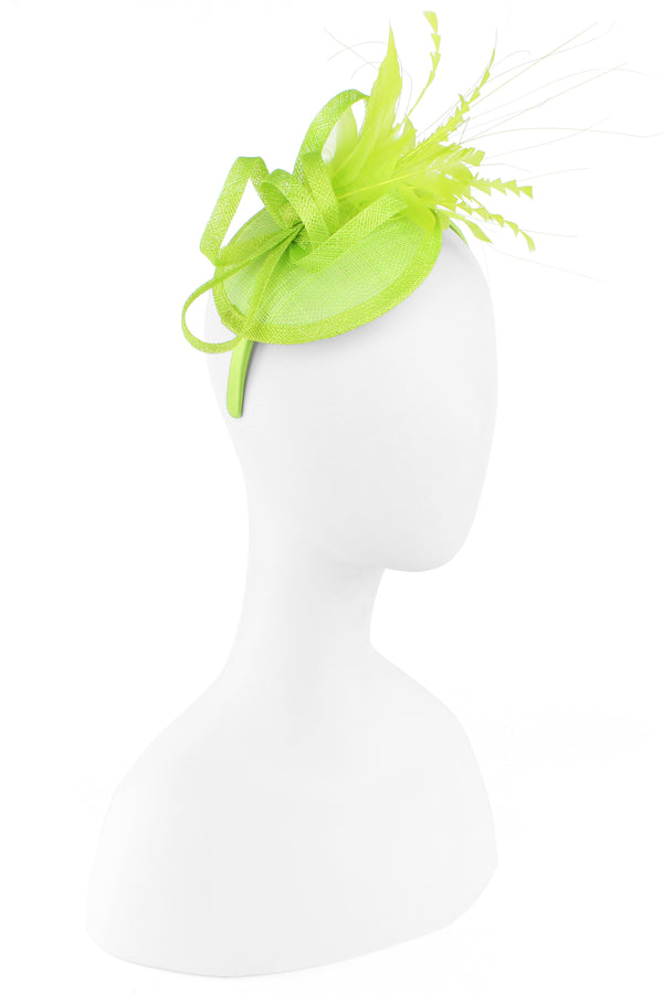Sinamay Feather Flower Fascinator