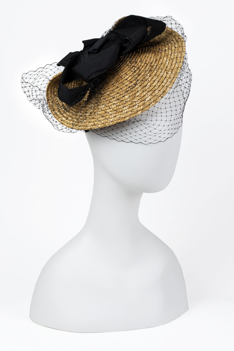 Sinamay Netted Fascinator Hat