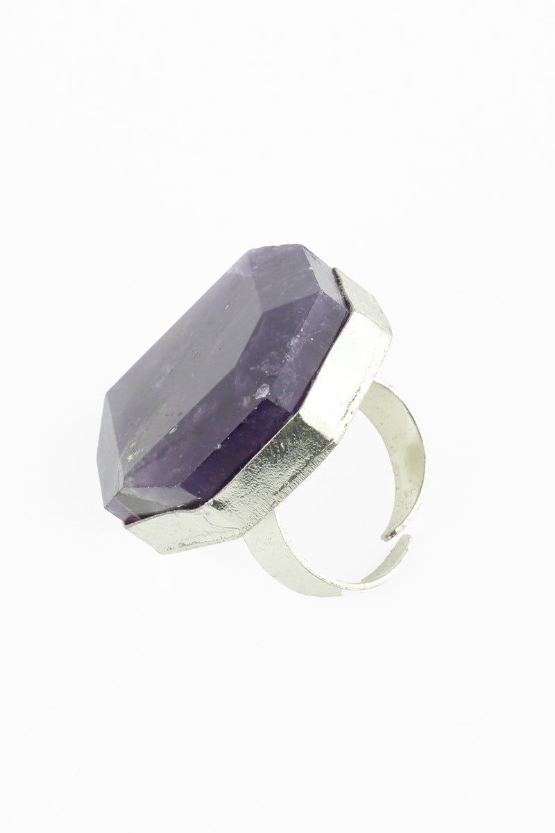 Faceted Amethyst Ring