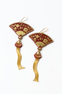 Rosita Bonita Tasseled Fan Earrings