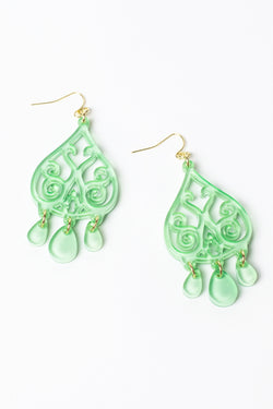 Zenzii Teardrop Scroll Earrings