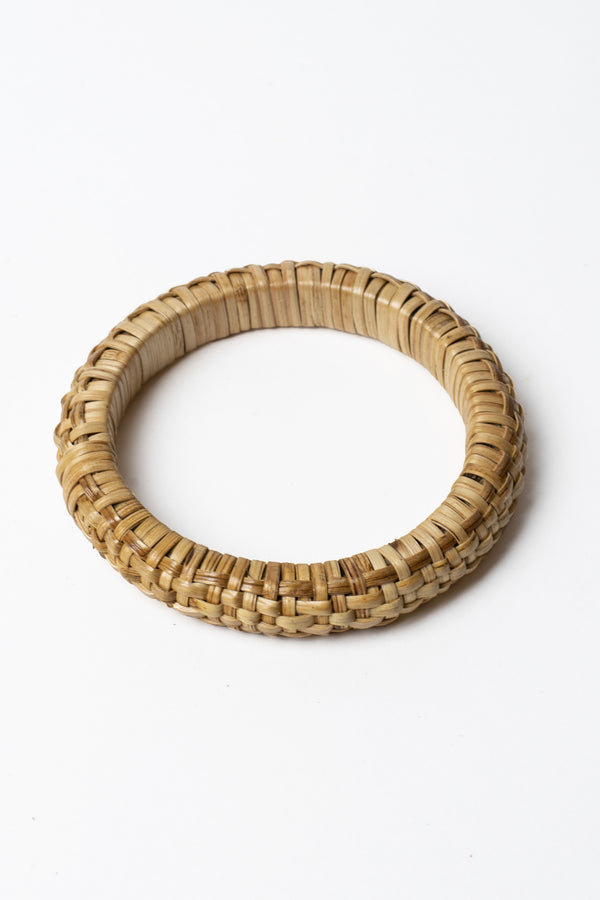 Thin Cross Woven Bamboo Bangle