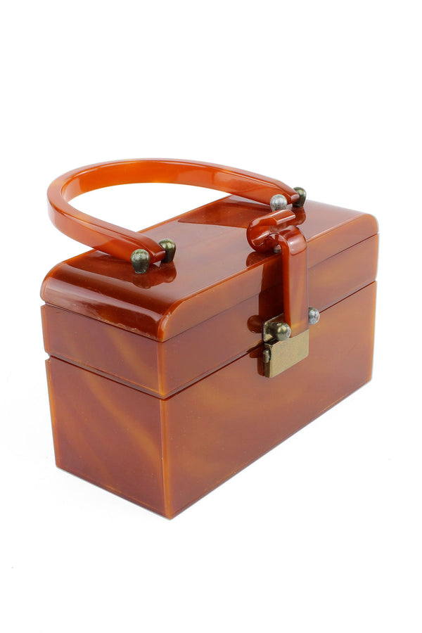 Caramel Wilardy  Double Compartment Box Purse