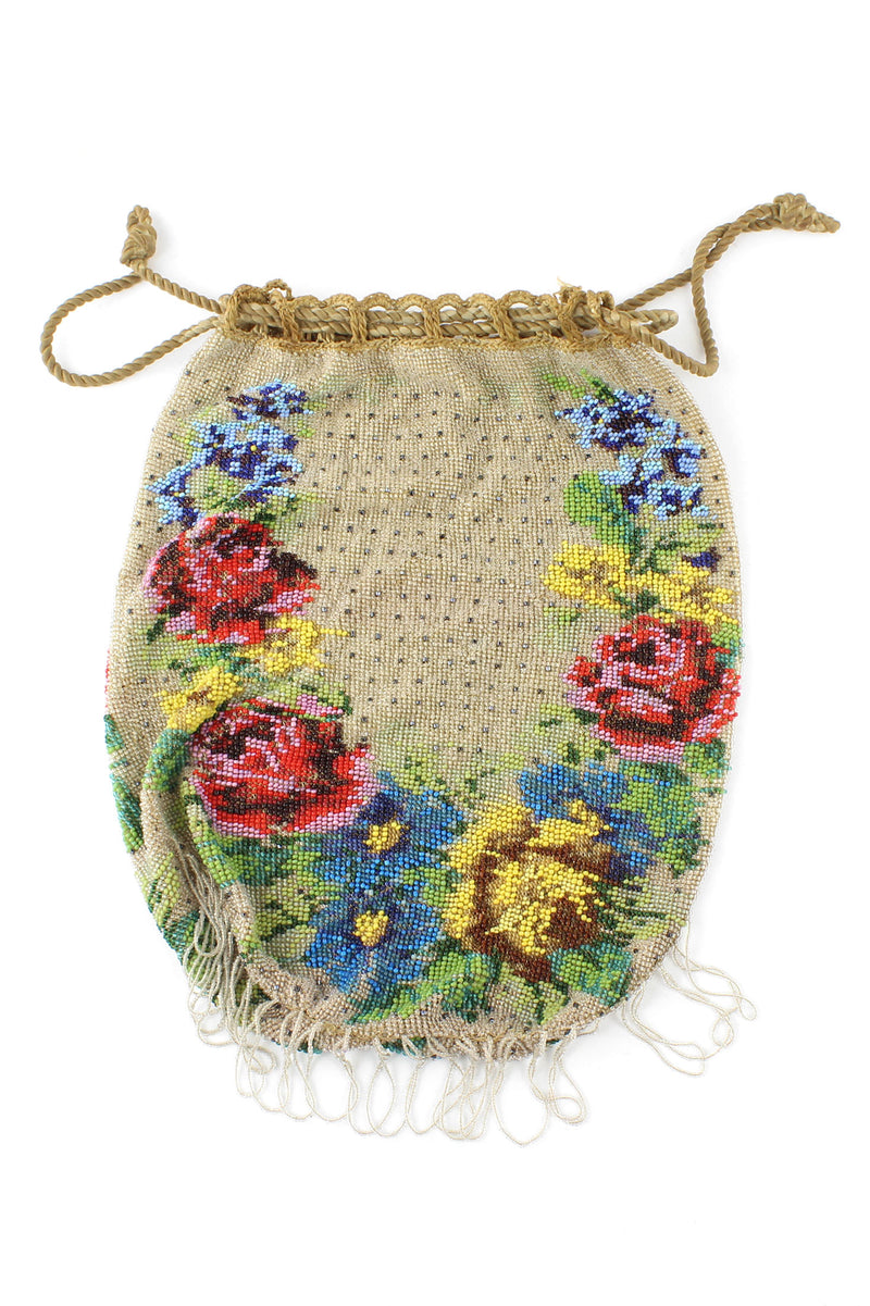 Antique Micro Beaded Floral 1920s Purse