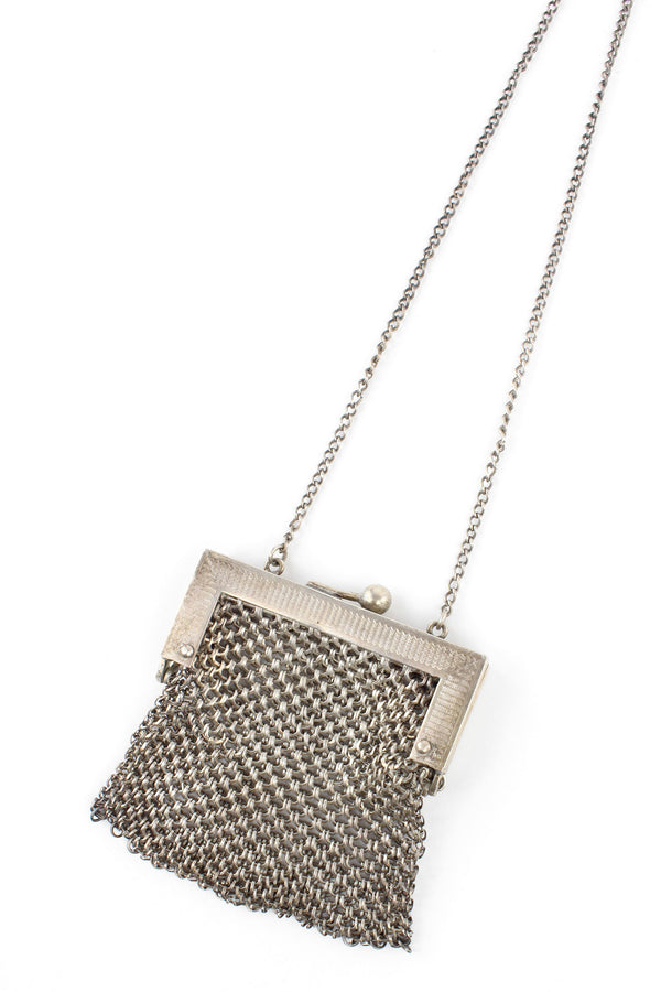 1900s Antique Mesh Metal Chainmail Coin Purse