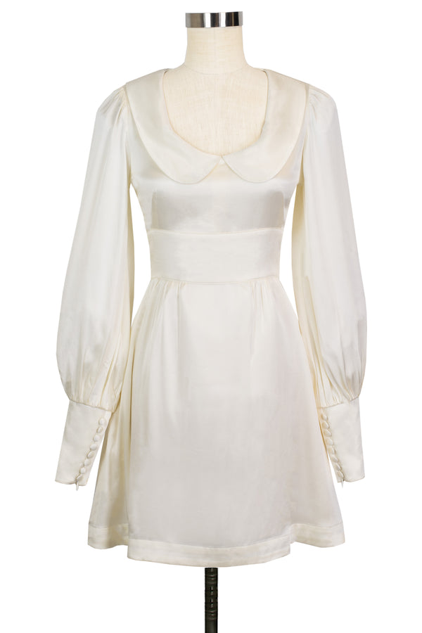 Wednesday Dress - Ivory Satin - Final Sale