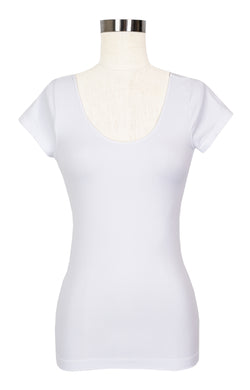 Cap Sleeve Scoop Neck Top