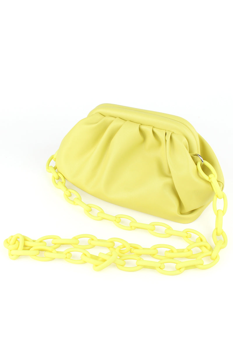 Butter Yellow Bag with Link Strap