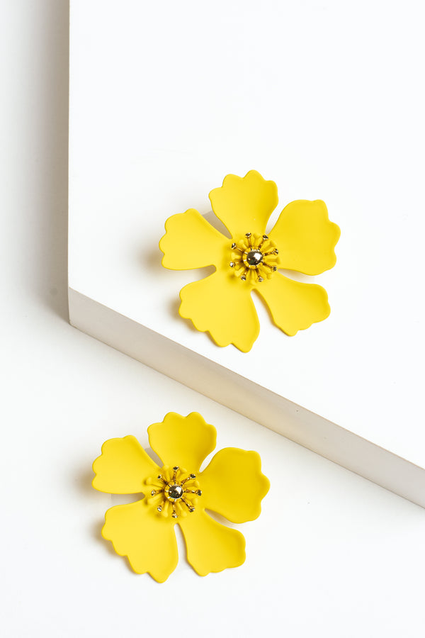 Zenzii Petunia Flower Earrings