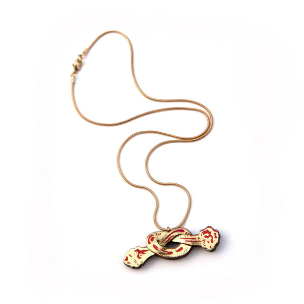 Rosita Bonita Cherry Twist Necklace
