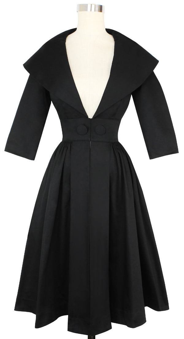 Kelly Coat Dress- Stretch Cotton Satin