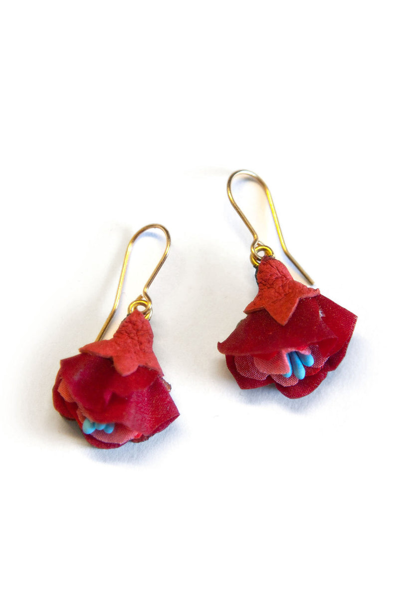 Rosita Bonita Pomegranate Flower Drop Earrings