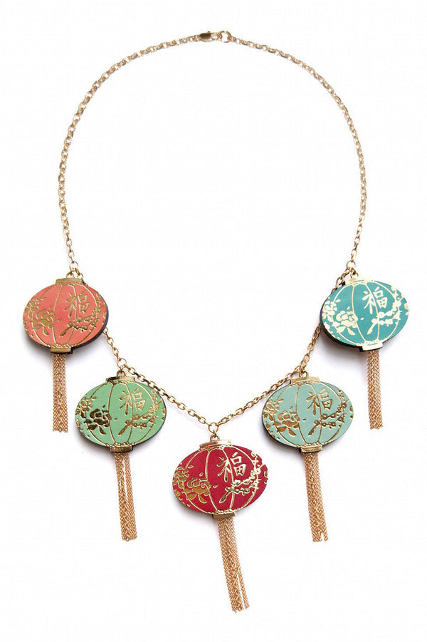 Rosita Bonita String of Lanterns Necklace