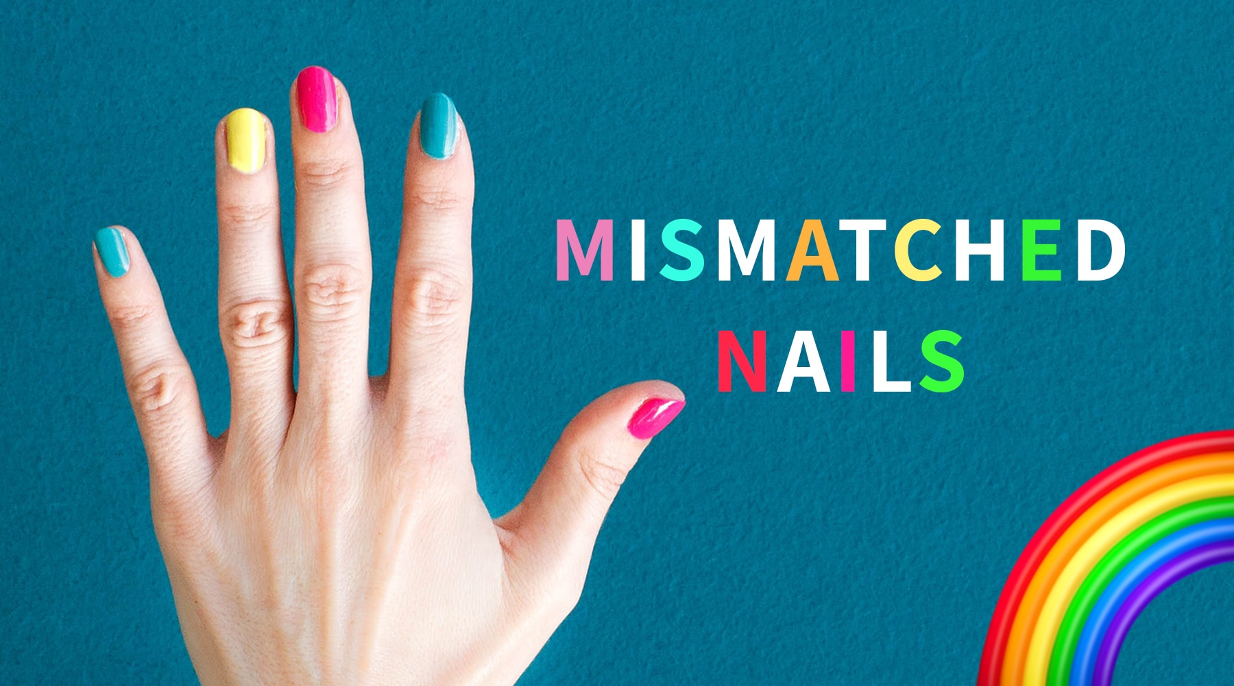 Nageltrend: Mismatched Nails