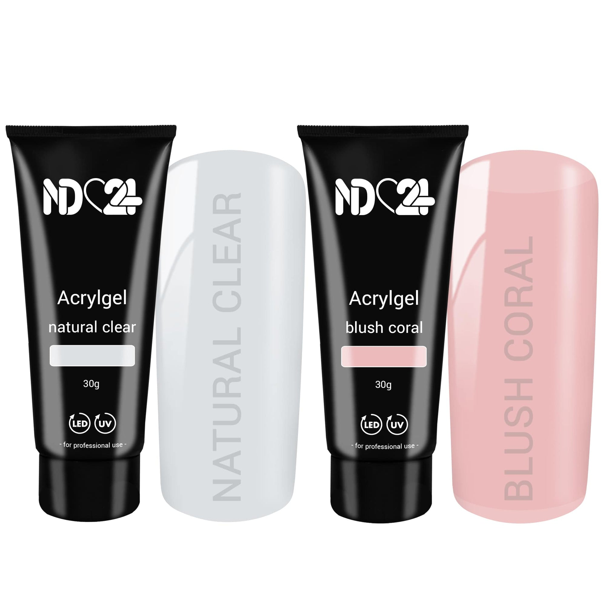Acryl Gel Tube Set Natural Look