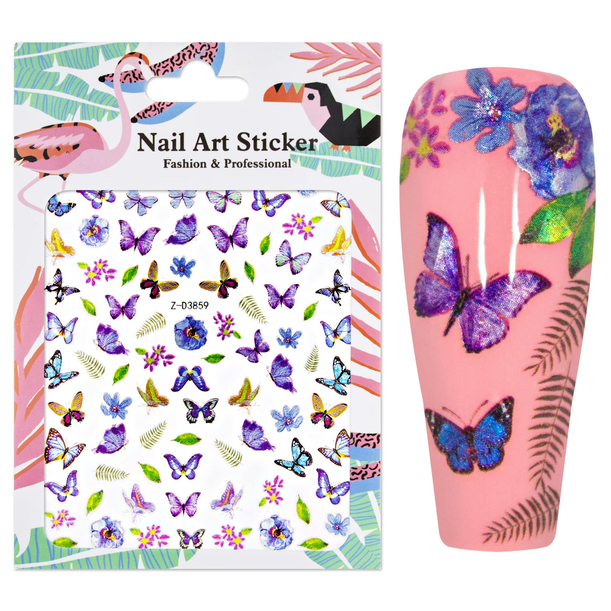 Nailart Sticker XL Butterfly