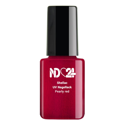 Shellac UV Nagellack Pearly red
