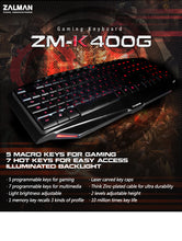 ZM-K400G Gaming Keyboard