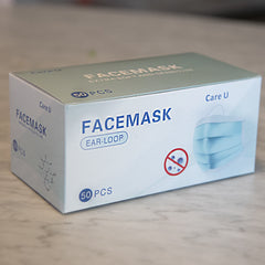 Face Mask 3-ply, 50 count