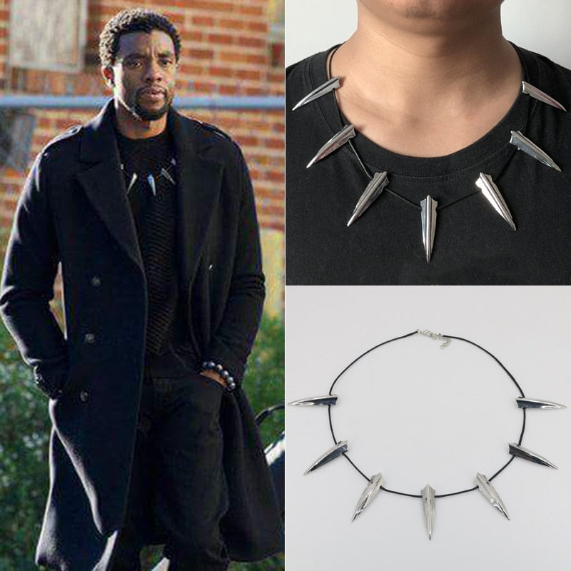 Black Panther Necklace Wakanda King T'Challa Black Panther Cosplay Necklace