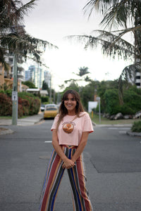 Lady Slider Tee - Dusty Pink