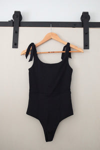 Agnetha One Piece - Black Ribbed