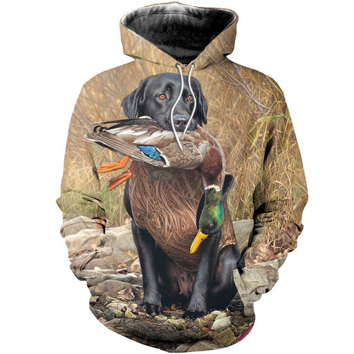 df3cdfacdfaf 3D All Over Printed Dog Hunting Duck Art Shirts and Shorts h1512