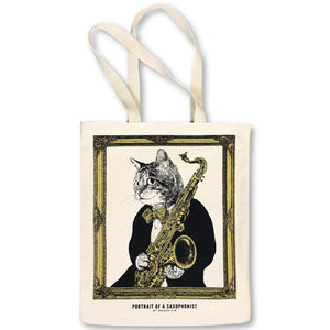 【Saxophone】Classicats-Canvas Bag|Hand-Made - SomeMusicDesign | Music Gifts
