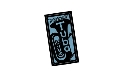 【Tuba】Contra-st Music Sticker - SomeMusicDesign | Music Gifts