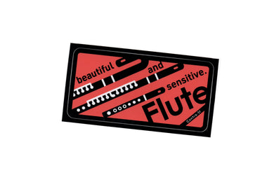 【Flute】Contra-st Music Sticker - SomeMusicDesign | Music Gifts