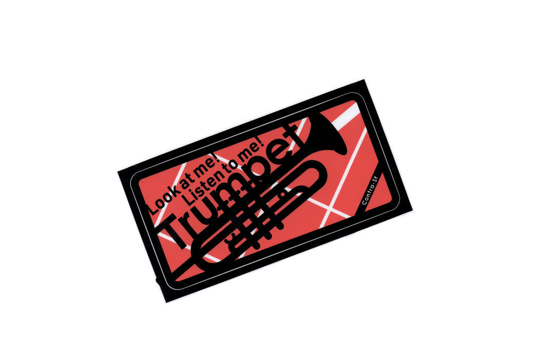 【Trumpet】Contra-st Music Sticker - SomeMusicDesign | Music Gifts