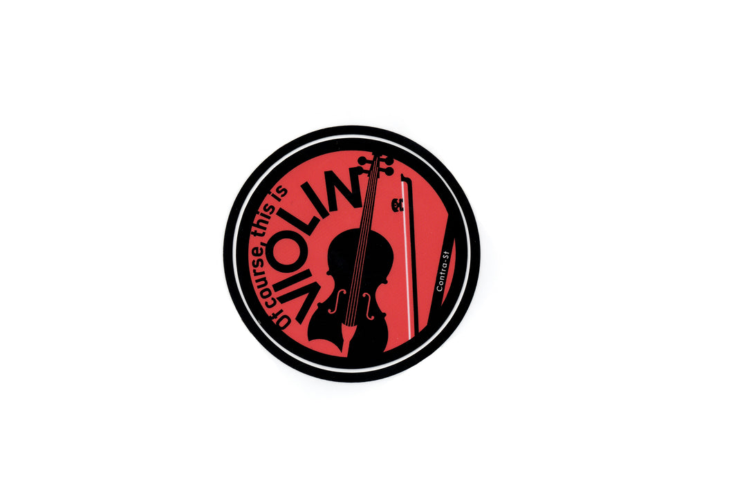 【violin】Contra-st Music Sticker - SomeMusicDesign | Music Gifts