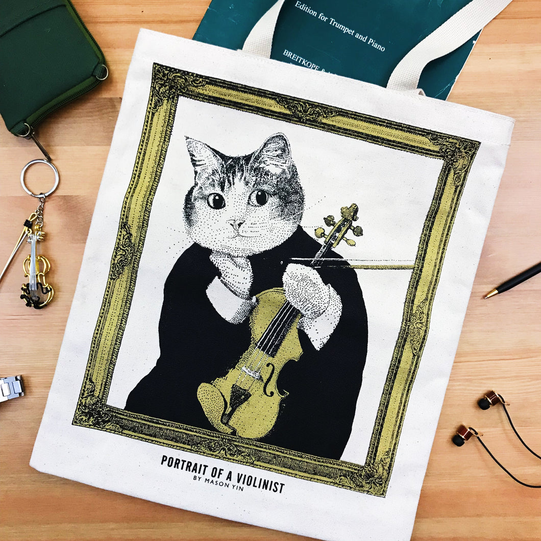 【Violin】Classicats-Canvas Bag|Hand-Made - SomeMusicDesign | Music Gifts