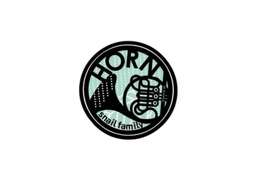 【Horn】Contra-st Music Sticker - SomeMusicDesign | Music Gifts