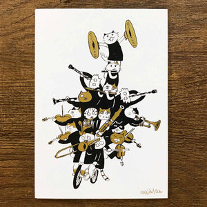 【Having A Blast】Classicats Postcard ''Musical Circus '' - SomeMusicDesign | Music Gifts