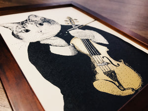 【Violin】Portrait of Classicats - SomeMusicDesign | Music Gifts