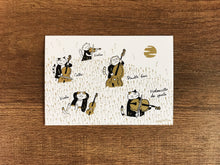 Load image into Gallery viewer, 【Fall】Classicats Postcard ''Four Seasons'' |4 pcs - SomeMusicDesign | Music Gifts