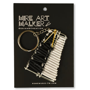 【Glockenspiel】Wire Art Instrument Charm - SomeMusicDesign | Music Gifts