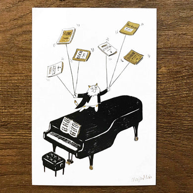 【Piano Performance】Classicats Postcard ''Musical Circus '' - SomeMusicDesign | Music Gifts