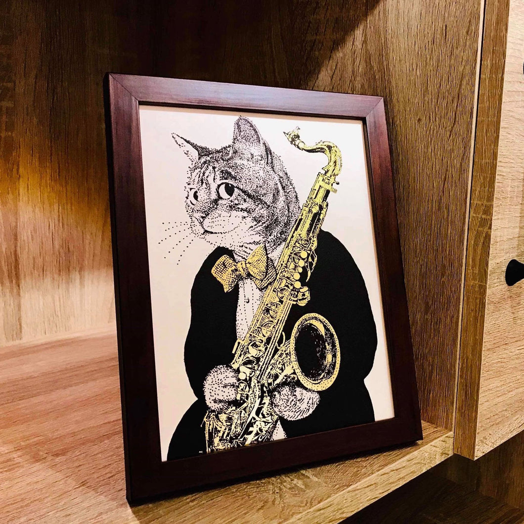 【Saxophone】Portrait of Classicats - SomeMusicDesign | Music Gifts