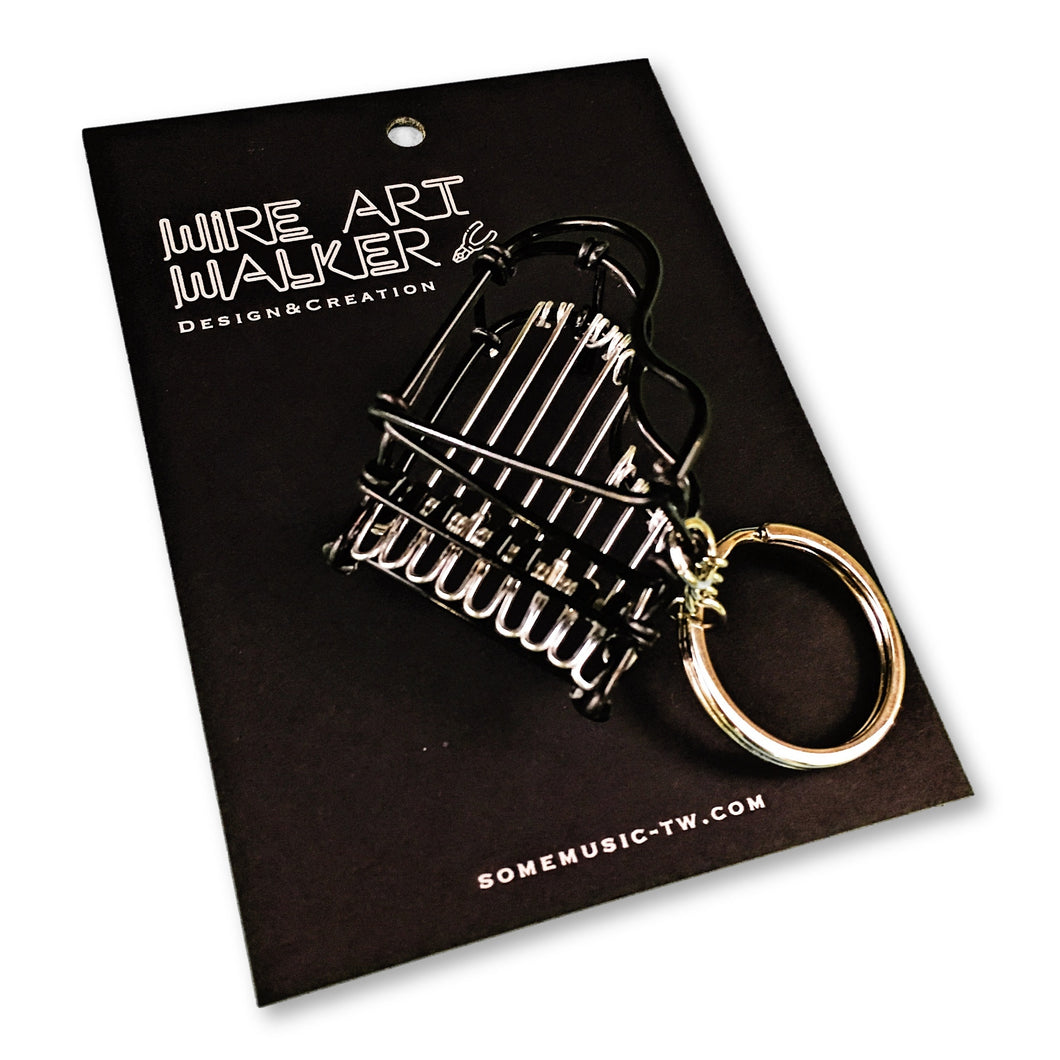 【Piano】Wire Art Instrument Charm - SomeMusicDesign | Music Gifts