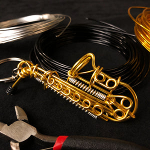 【Saxophone】Wire Art Instrument Charm