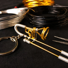 Load image into Gallery viewer, 【Trombone】Wire Art Instrument Charm