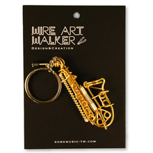 Load image into Gallery viewer, 【Saxophone】Wire Art Instrument Charm - SomeMusicDesign | Music Gifts