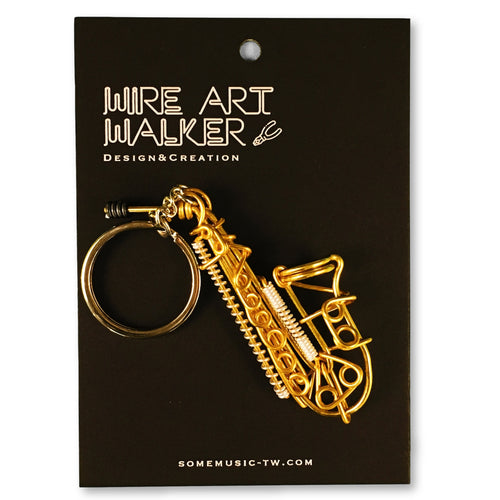 【Saxophone】Wire Art Instrument Charm - SomeMusicDesign | Music Gifts