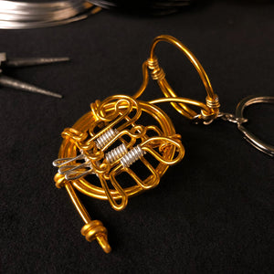 【Horn】Wire Art Instrument Charm