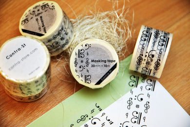 【Music Note】Contra-st Masking Tape - SomeMusicDesign | Music Gifts